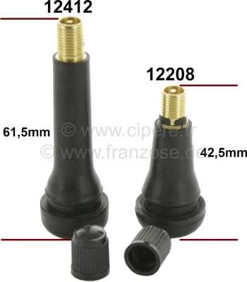 Citroen-2CV Ventil (Gummiventil) für Felge. Passend für Citroen 2CV, DS, CX, HY, GS. Renault R4, R5, R