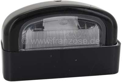 Citroen-2CV Kennzeichenleuchte, mit schwarzen Gehäuse. Passend für Citroen AK, AZU, ACDY, HY, DS Break