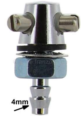 Citroen-DS-11CV-HY Scheibenwaschdüse verchromt. Universal passend. 4mm Schlauch Anschluß. Die Scheibenwaschdü