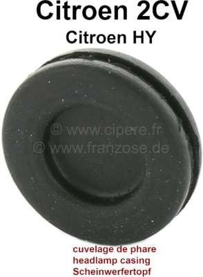 Citroen-2CV Scheinwerfertopf Gummidurchführung unten (für die Kabel). Passend für Citroen 2CV + HY.