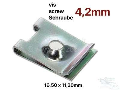 Sonstige-Citroen Aufschiebemutter 4,2 (Blechmutter). Für Blechtreibschraube mit 4,2mm Kerndurchmesser. Abme