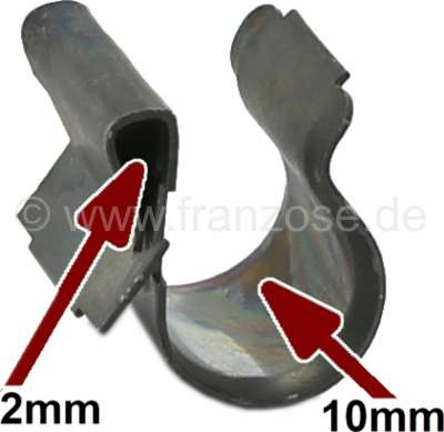 Sonstige-Citroen Befestigungsklammer aus Metall, für bis 10mm Leitungen. (Kabelbaum, Benzinleitung, Wassers