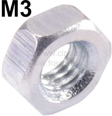 Citroen-2CV M3, Mutter verzinkt, ( Chromleiste 2CV Lüfterklappe)
