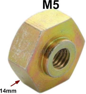 Citroen-2CV M5 Schweißmutter (Punktschweißmutter), wie Original! Passend für Citroen 2CV, DS, HY