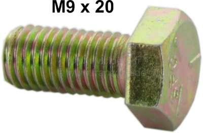 Citroen-2CV M9x20 / Schraube, gelb verzinkt! (M9x1,25 Steigung)