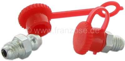 Sonstige-Citroen Schmiernippel Abdeckkappe aus Kunststoff. Farbe: Rot.