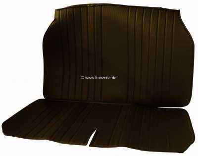 Citroen-2CV 2CV, Sitzbezug Rücksitzbank, in Kunstleder schwarz. Die Seiten sind offen.