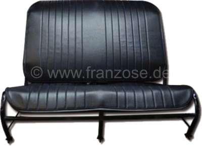 Citroen-2CV 2CV alt, Sitzbankbezug vorne, aus Kunstleder. Farbe schwarz. Die Seiten sind offen. Made i