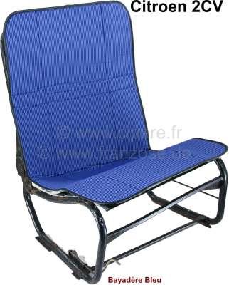 Citroen-2CV 2CV alt, Sitzbezug Hängematte blau gestreift (Bayadère Bleu). Per Stück. Vorne + hinten pa