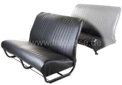 Citroen-2CV 2CV, Sitzbankbezug vorne. Kunstleder schwarz. Die Seiten sind geschlossen. Glatte Oberfläc