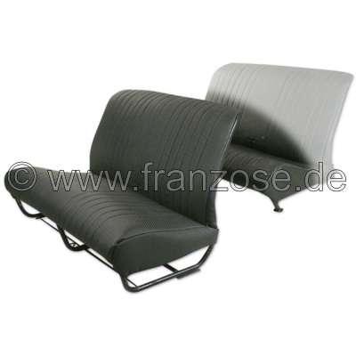 Citroen-2CV 2CV, Sitzbankbezug vorne. Kunstleder schwarz. Die Seiten sind geschlossen. Die Oberfläche