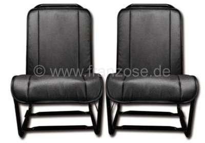 Citroen-2CV 2CV, Sitzbezug Vordersitz, offene Seiten (2 Stück). Material: Kunstleder schwarz, glatte O