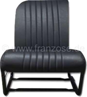 Citroen-2CV 2CV, Sitzbezug Vordersitz rechts, Asymetric, Kunstleder schwarz, Seiten geschlossen. Made