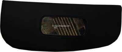 Citroen-2CV Sonnenblende rechts (ohne Halterung), Nachbau. Farbe schwarz. Passend für Citroen 2CV mit