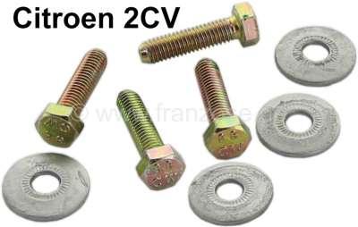 Citroen-2CV Sonnenblende Schraubensatz (4x). Passend für Citroen 2CV.