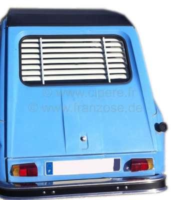 Citroen-2CV Heck - Jalousie . Passend für Citroen Dyane Limousine. Schnell eingebaut (Die Halterungen
