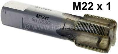 Citroen-2CV Achsschenkelbolzen Gewindenachschneider M22x1 (Gewinde unten in der Radnabe). Passend für