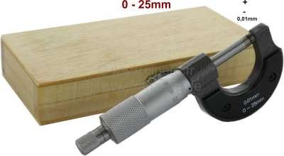 Citroen-2CV Bügelmessschraube 0-25mm. Optimal für die Istmaß Ermittlung von Achsschenkelbolzen.