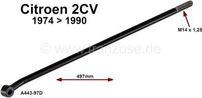 Citroen-2CV Spurstange, links oder rechts passend. Länge 497mm. Nur passend für Citroen 2CV, von Bauja