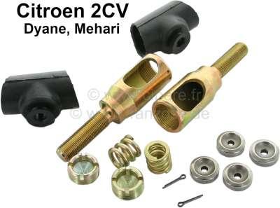 Citroen-2CV Spurstangenkopf Reparatursatz links + rechts (1 Paar). Inclusive Lagerpfannen, Druckfedern