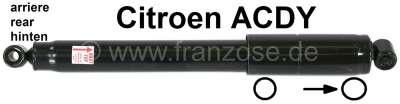 Citroen-2CV Stoßdämpfer hinten, passend für Citroen ACDY. (Kastendyane).  Einbau: Die Kappe aus Kunsts