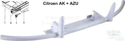 Citroen-2CV Stoßstange vorne (Rohrstoßstange). Passend für Citroen AZU + AK. Nachbau der originalen Ro