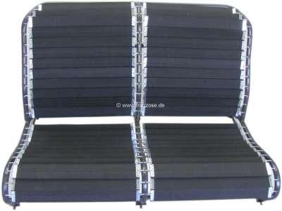 Citroen-2CV Gurtumbausatz für die Rückenlehne der hinteren Sitzbank, passend für Citroen 2CV. Die Gurt