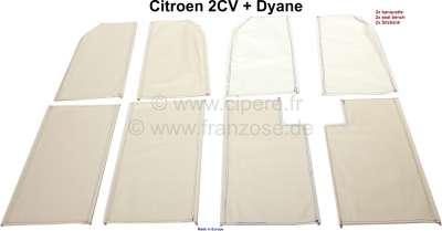 Citroen-2CV Jutespannbezug mit seitlichen Eisendraht. (Der Bezug ist unter der Sitzfläche + Rückenlehn