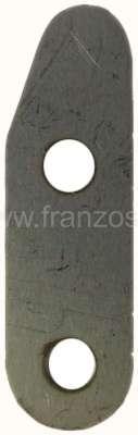 Citroen-2CV Abdeckplatte fur die Pulldowndose der Chokeklappe, passend für den ovalen Vergaser 2CV6. (