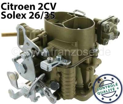Citroen-2CV Vergaser oval (Neuteil), für Citroen 2CV6. Solex 26/35. Alle Vergaser werden von uns zerle