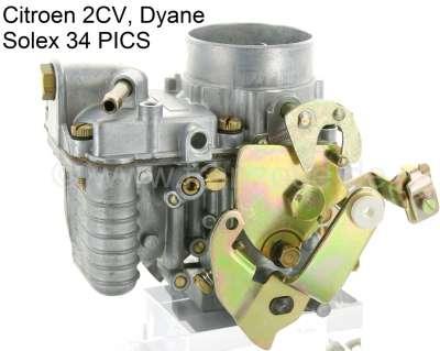 Citroen-2CV Vergaser rund, für Citroen 2CV6, alte Version. Entspricht Solex 34 PICS, mit Beschleunigun