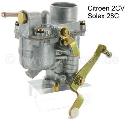 Citroen-2CV Vergaser SOLEX 28C, passend für Citroen 2CV, frühe Baujahre (AZAM).