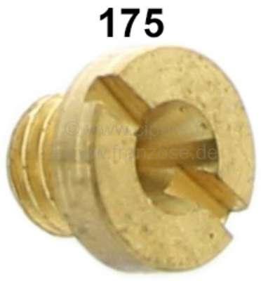 Citroen-2CV Vergaserdüse für runden Solex vergaser (nicht passend für ovalen Vergaser). Passend für Ci