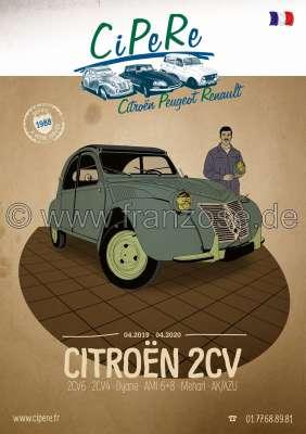 Citroen-DS-11CV-HY 2CV Katalog 2019. Französisch! 368 Seiten!  Kompletter Katalog DER FRANZOSE mit Bildern un