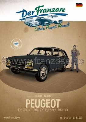 Citroen-DS-11CV-HY Peugeot Katalog 2019. 336 Seiten, deutsch. Kompletter Katalog DER FRANZOSE mit Bildern und