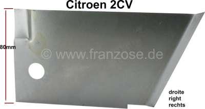 Citroen-2CV 2CV, A-Säule: Dreiecksblech rechts, Reparaturblech für die unteren 10cm, die auf dem Schwe