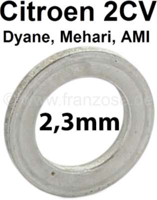 Citroen-2CV Achsschenkelbolzen Ausgleichscheibe (Distanzscheibe). Dicke: 2,3mm. Passend für Citroen 2C