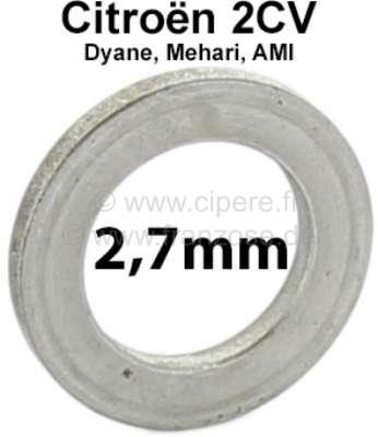 Citroen-2CV Achsschenkelbolzen Ausgleichscheibe (Distanzscheibe). Dicke: 2,7mm. Passend für Citroen 2C