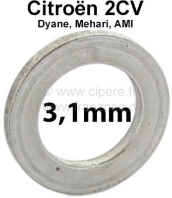 Citroen-2CV Achsschenkelbolzen Ausgleichscheibe (Distanzscheibe). Dicke: 3,1mm. Passend für Citroen 2C