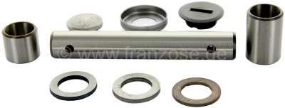 Citroen-2CV Achsschenkelbolzen für Citroen 2CV, komplett mit allen Hülsen und Ausgleichscheiben. Stahl