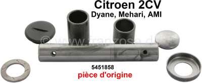 Citroen-2CV Achsschenkelbolzen für Citroen 2CV (Original), komplett mit Hülsen. Pro Seite. Passend für