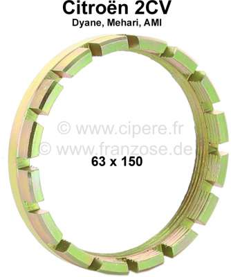 Citroen-2CV Schwingarmlager Sicherungsmutter, passend für Citroen 2CV. Maß: 63 x 150mm