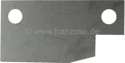Citroen-2CV Zündschloss, Platte über dem Zündschloss (dünne Platte ). Angefertigt aus Edelstahl. Passe