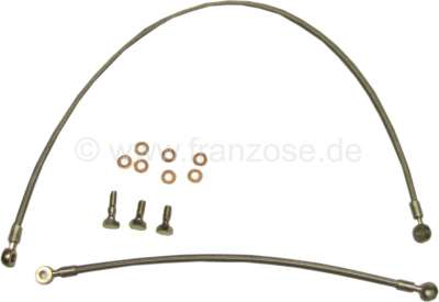 Citroen-2CV Ölleitung flexibel für 2CV6, incl. passender Hohlschrauben! Durch die flexiblen Leitung kö