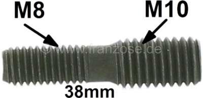 Citroen-2CV Stehbolzen M8 auf M10. Länge 38mm. Sonderanfertigung! Jetzt können defekte M8 Gewinde auf