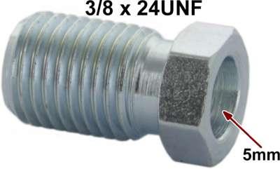 Renault Bördelschraube 3/8x24UNF für 5mm Leitung. Länge + Breite über alles: 10 x 18mm