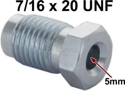 Renault Bördelschraube 7/16x20UNF für 5mm Leitung. Länge + Breite über alles: 12 x 21,5mm