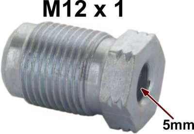 Renault Bördelschraube M12x1 für 5mm Leitung. Länge + Breite über alles: 12 x 20mm