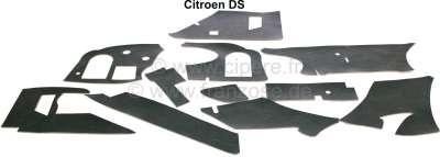 Citroen-DS-11CV-HY Armaturenbrett Dämmung Set. Diese Dämmmatten sind karosserieseitig montiert. Passend für C