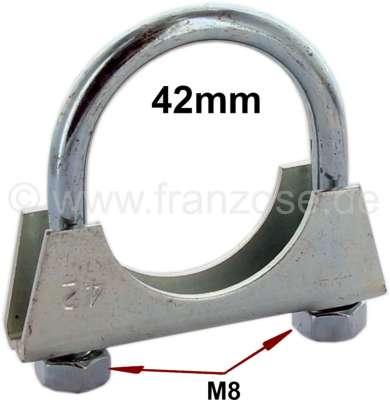 Sonstige-Citroen Auspuffschelle 42mm (Bügelschelle). Gewinde: M8!